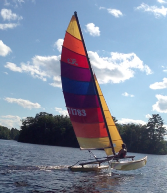 Michael White's Hobie 16