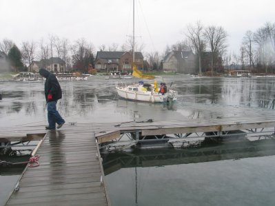 Mike Geryak Getting His Boat Out