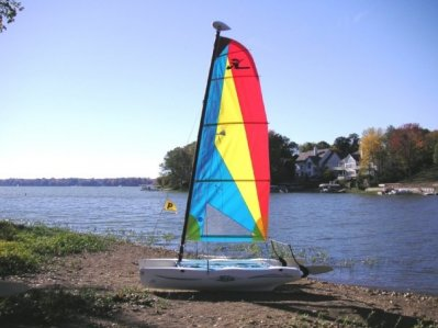 On the beach at Indianapolis Sailing Club, on the Geist Reservoir.