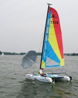 Bill Mullineaux on his Hobie
